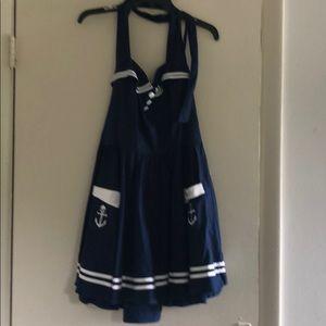 Pinup style halter dress